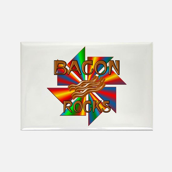 Bacon Rocks Rectangle Magnet