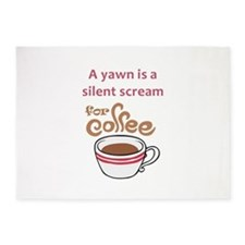 SILENT SCREAM FOR COFFEE 5'x7'Area Rug