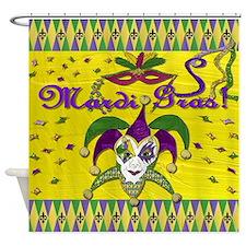 Mardi Gras Jester Mask Shower Curtain