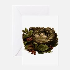 Vintage Birds Nest Eggs and Christm Greeting Cards