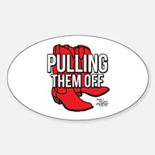HIMYM Red Boots Sticker (Oval)