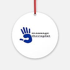 Massage Therapist Hand Ornament (Round)