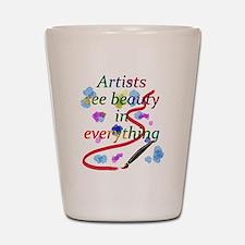 Artists See Beauty Shot Glass