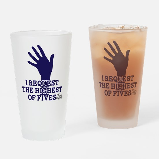 HIMYM Fives Drinking Glass