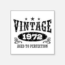 "Vintage 1972 Square Sticker 3"" x 3"""