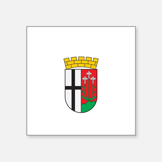"Cute Swiss heritage Square Sticker 3"" x 3"""