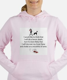 Cute Great dane Women's Hooded Sweatshirt