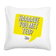 HIMYM Met Ted Square Canvas Pillow