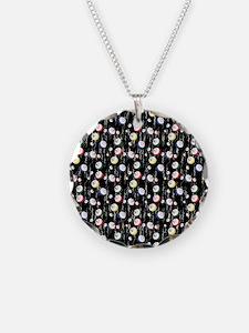 Festive Bingo Balls Necklace
