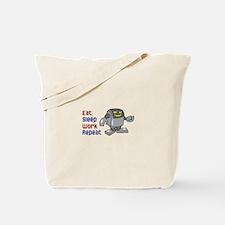 EAT SLEEP WORK REPEAT Tote Bag