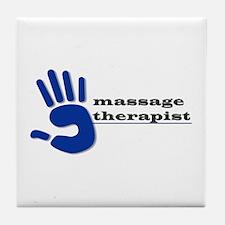 Massage Therapist Hand Tile Coaster