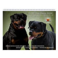 Top Dog Rottweiler Wall Calendar