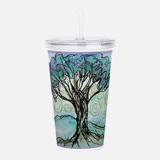 tree ! tree of life, art! Acrylic Double-wall Tumb