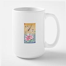 Lotus Dragonfly Art Mugs