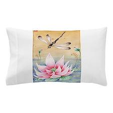 Lotus Dragonfly Art Pillow Case