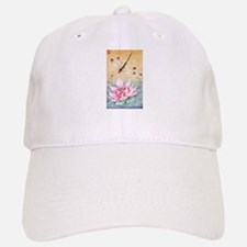 Lotus Dragonfly Art Baseball Baseball Cap