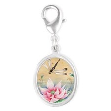 Lotus Dragonfly Art Charms