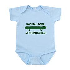 Natural Born Skateboarder Infant Bodysuit