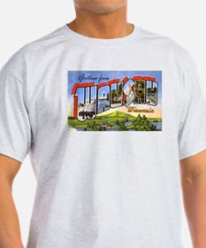 Wausau Wisconsin Greetings (Front) T-Shirt