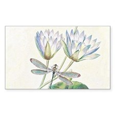 Lotus and dragonfly Decal