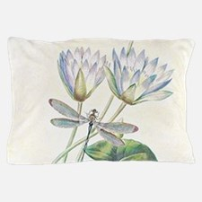 Lotus and dragonfly Pillow Case