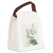 Lotus and dragonfly Canvas Lunch Bag