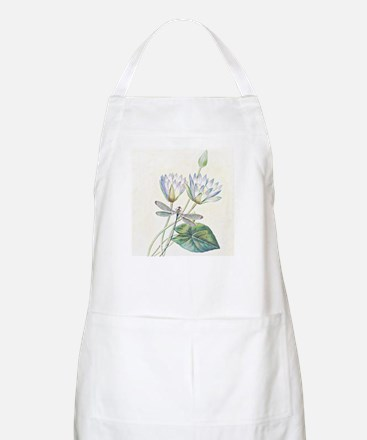Lotus and dragonfly Apron