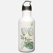 Lotus and dragonfly Water Bottle