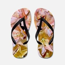 Pink and yellow rhododendrons Flip Flops