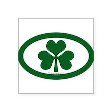 "Cute Irish oval Square Sticker 3"" x 3"""