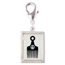 Afro Hair Peace Charms
