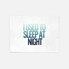 I used to Sleep at night 5'x7'Area Rug