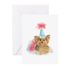 Birthday Yorkie Greeting Cards