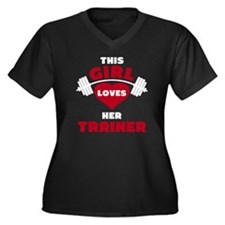 Unique Workout Women's Plus Size V-Neck Dark T-Shirt