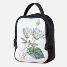 Lotus and dragonfly Neoprene Lunch Bag