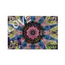 kaleidoscope love Rectangle Magnet