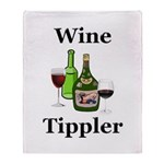 Wine Tippler Throw Blanket
