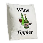 Wine Tippler Burlap Throw Pillow