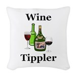 Wine Tippler Woven Throw Pillow