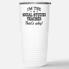 Funny Social studies teacher Travel Mug