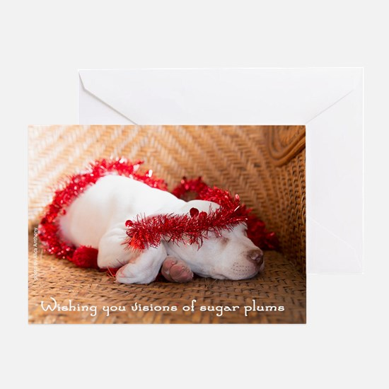 Visions Of Sugar Plums Holiday Card Greeting Cards