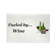 Fueled by Wine Rectangle Magnet