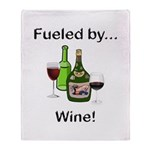 Fueled by Wine Throw Blanket