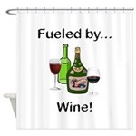 Fueled by Wine Shower Curtain