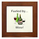 Fueled by Wine Framed Tile