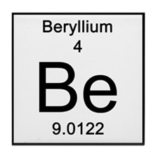 Periodic Table Beryllium Tile Coaster