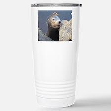 Sea Lion Having Fun Travel Mug
