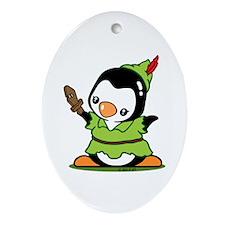 Penguin Pan Ornament (Oval)