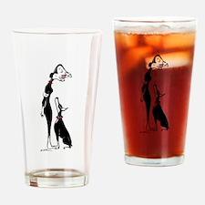 Doberman and Doberwoman Drinking Glass