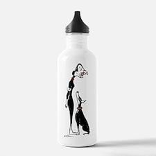 Doberman and Doberwoma Water Bottle